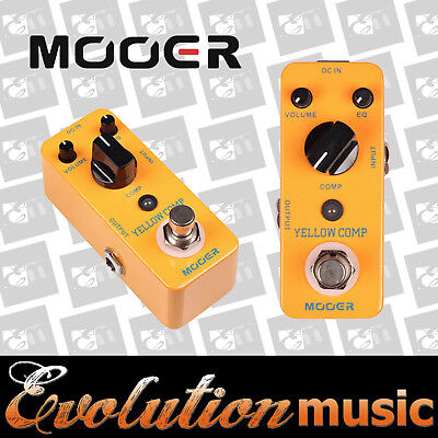 Mooer Micro Series Yellow Comp Compression Effects Pedal