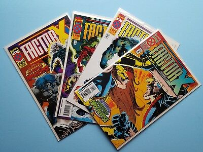 Factor X #1-4 VF/NM complete comic limited series AGE OF APOCALYPSE Marvel 1995