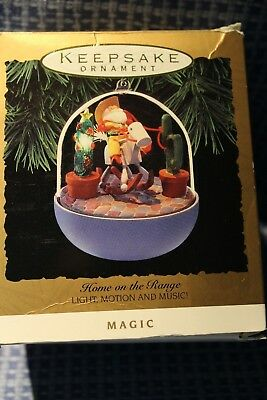 Hallmark  Keepsake Ornament Home On The Range  Light  Motion & Music   1993