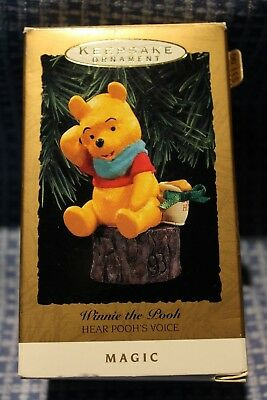 Hallmark  Keepsake Ornament Winnie The Pooh Hear Pooh's Voice Magic   1993