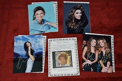 Shania Twain (4) AUTOGRAPHED PHOTO'S AND HANDSIGNED CD & COA/HOLOGRAM NUMBERED