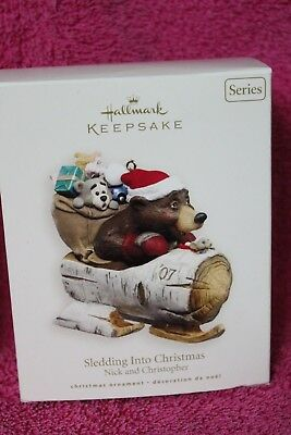 Hallmark Keepsake Ornament Sledding Into Chrstmas Nick & Christopher  2007
