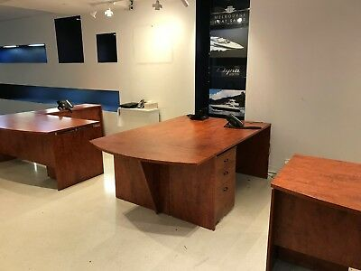 Office Furniture Lot - 12 Pieces - Desks, Mobile Pedestals, Credenzas, Counter