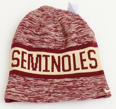dad2dfede3135 Nike Reversible Florida State Seminoles Maroon Knit Beanie Men s One Size
