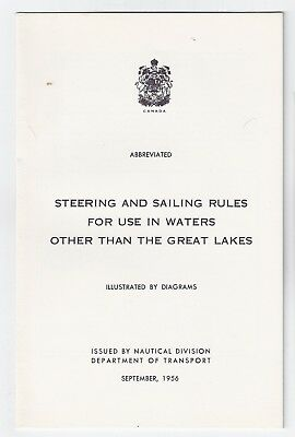 Steering & Sailing Rules for Use in Waters Other than the Great Lakes, 1956