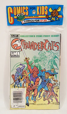 ThunderCats 1-3 Comics for Kids 1985 Sealed Polybag Set Lot Marvel Star #1 2 3