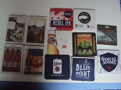 #2 Lot of 24 Assorted Beer Bar Coasters most Micro-Breweries