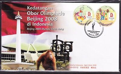 Indonesia 2008 Beijing Olympics First Day Cover