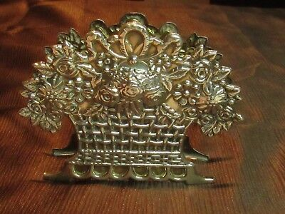 Very Rare 925 Sterling Silver Handcrafted Flower Napkin Holder Ant#306