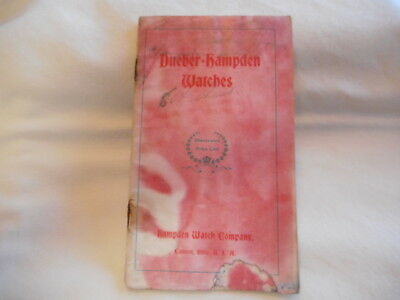 Early 1900s Dueber-Hampden Illustrated Pocket Watch Catalog AS IS