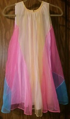 Multicolor Double Chiffon Full Sweep Barbie Babydoll Nightgown NIGHTIE LACE S +