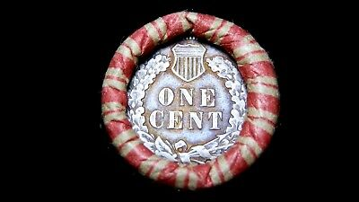 Crimped Shotgun Roll w/ 1857 Flying Eagle & Very Nice Reverse Indian Showing