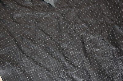BLACK UPHOLSTERY LEATHER  WITH SYMMETRICAL PERFORATIONS pack 778