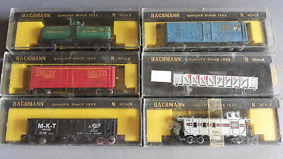 Bachmann Vintage Us Style Freight Cars X 6 Good Condition Boxed N Scale(Bg)