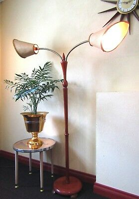 Vintage Retro Double Light Floor Lamp - Pick Up Only Prospect Adelaide