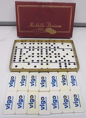 Vintage Puremco Marblelike Dominoes - Professional Extra Thick - Marked Vigo