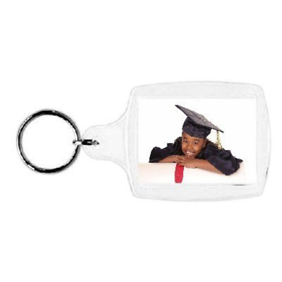 "Plastic Photo Snap-in Key Chain - 1 3/8 x 1 3/4"" pack of 100"