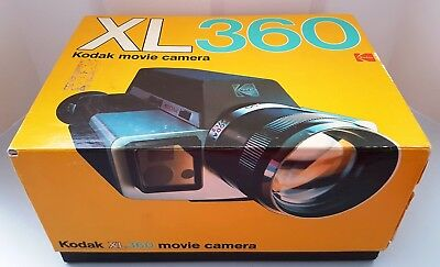 Vintage 1974 Eastman KODAK XL360 SUPER 8 MOVIE Film CAMERA in BOX