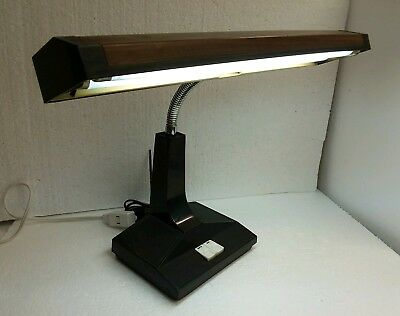 Mid Century Modern Vintage MCM Inter World Goose Neck Retro Desk Lamp Model 402