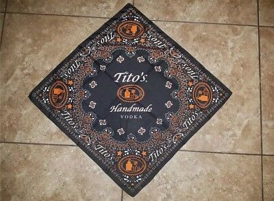 "Tito's Vodka Bandanna NEW 21"" x 21"" TWO"
