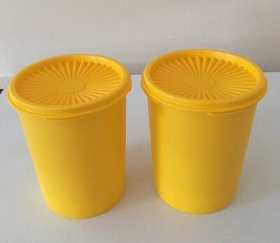 Tupperware Tall Round Small Cookie Canister Set Of 2