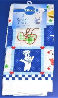 NWT 2005 Pillsbury Doughboy Blue/Multi Kitchen Towel - Dough Boy Poppin' Fresh