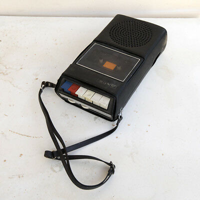 Vintage-Sony-TC-60A-Solid-State-Cassette-Tape-Recorder-Player-With-Case