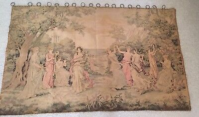 Antique French Aubusson Tapestry Wall Hanging by Lionel Peraux - 19th Century