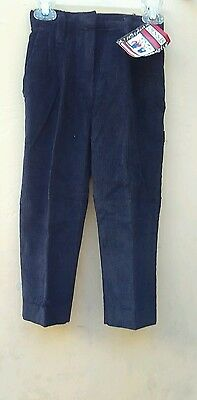 Dennis uniform corduroy pants girls size 6 Navy Union Made in the U.S.A.