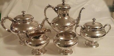Gorham Sterling Silver 5-piece Coffee/Tea Service Set Excellent *PRICED TO SELL*