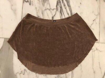 Abigail Mentzer Pull On Brown Ballet Skirt Great With Yumiko Size Medium