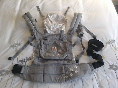 Ergo baby carrier grey with stars Excellent Condition