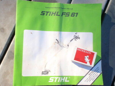 Stihl   FS 61 brushcutter manual