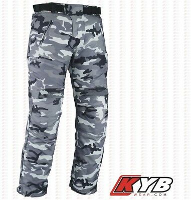 KYB® CAMO Motorbike Motorcycle Trouser Waterproof CORDURA Trousers Pants Armours