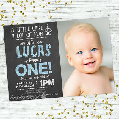 First Birthday Party Invitations Boys 1St Personalised Invites