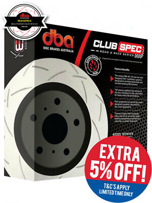 2 x DBA T3 Slotted Rotor FOR HOLDEN ASTRA AH (DBA42815S)