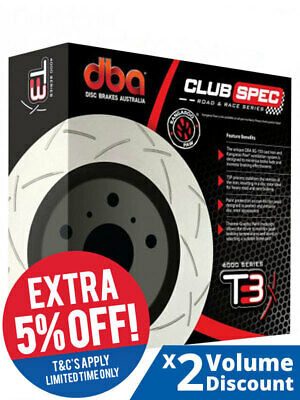 2 x DBA T3 Slotted Rotor FOR HOLDEN COMMODORE VF (DBA42604S)