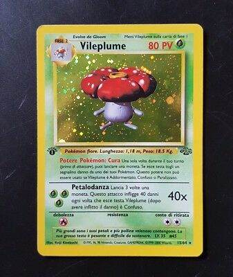 "pokemon tcg - ""VILEPLUME"" 1 EDIZIONE  15/64 - Jungle - ita"