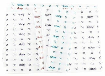"(25) NEW! eBay Branded Blue, Purple & Red Tissue Paper: 20""x 30"" Free Shipping"