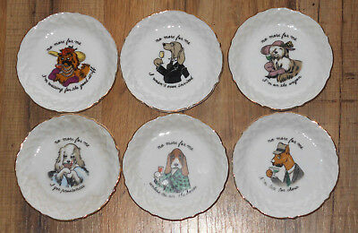 Vintage set of six ARDALT Drinking Dogs Coasters