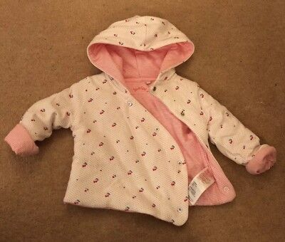 Junior J Baby Girl Pram Coat Size 6-9 Used Excellent Condition