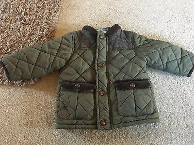 Baby Boys Green Coat Aged 9-12 Months From Next