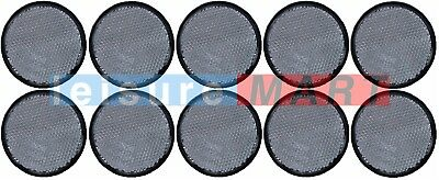Trailer and truck reflectors round white clear stick on set of 10