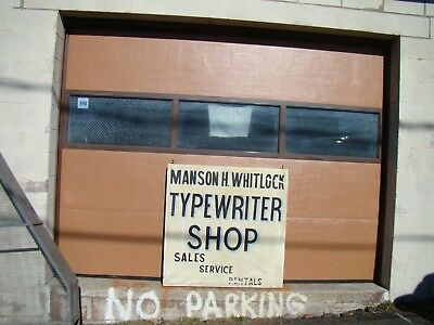 "42"" Antique tin sign Manson Whitlock typewriter store sign New Haven Connecticut"