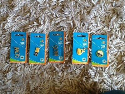 5x Official Licensed Pins From Melbourne 2006 Commonwealth Games, Memorabilia