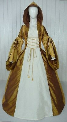 Medieval Renaissance Tudor Wedding Handfasting Larp Gown Dress Costume (28C)