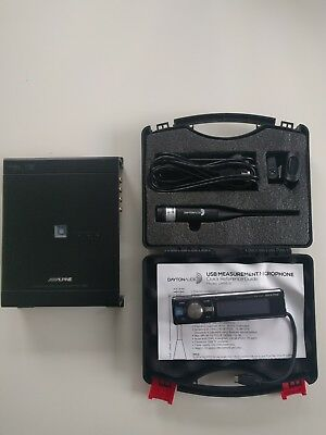 Alpine PXA H800, RUX C800 and Dayton Audio UMM-6 measurement microphone