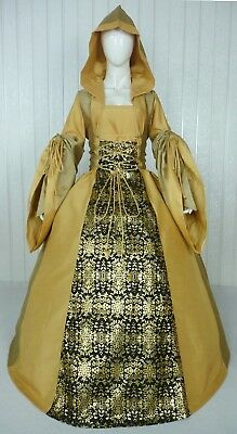 Medieval Renaissance Tudor Wedding Handfasting Larp Gown Dress Costume (28F)