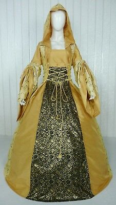 Medieval Renaissance Tudor Wedding Handfasting Larp Gown Dress Costume (28H)