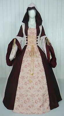 Medieval Renaissance Tudor Wedding Handfasting Larp Gown Dress Costume (28J)
